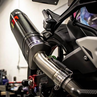 Akrapovic Kawasaki Ninja 400 2018-2019 Carbon Slip-On Exhaust