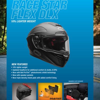 1da01b47 Bell Race Star Flex DLX Solid Helmet Matte Black - Sportbike Track Gear