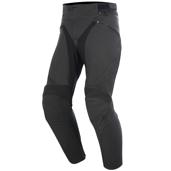 Alpinestars Mens Jagg Airflow Leather Motorcycle Pant Black//Black 46