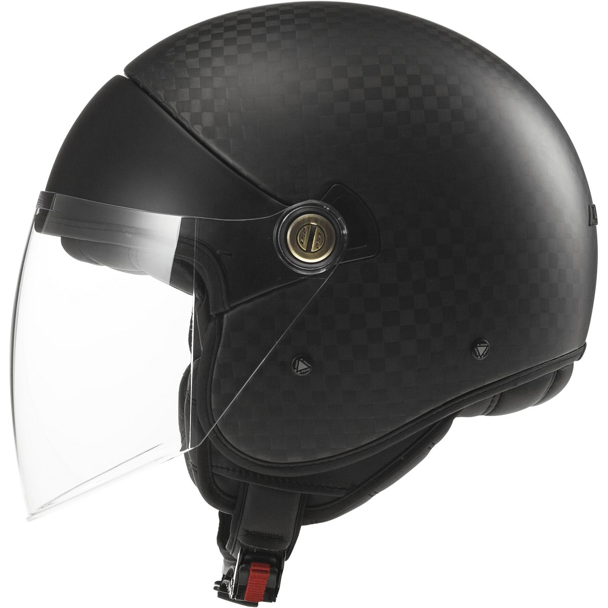 Ls2 Cabrio Carbon Fiber Open Face Motorcycle Helmet With