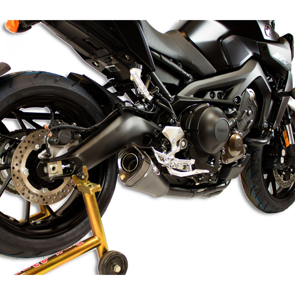 M4 Exhaust Yamaha FZ-09 / MT-09 14-19 Full Exhaust RM1 Carbon Canister