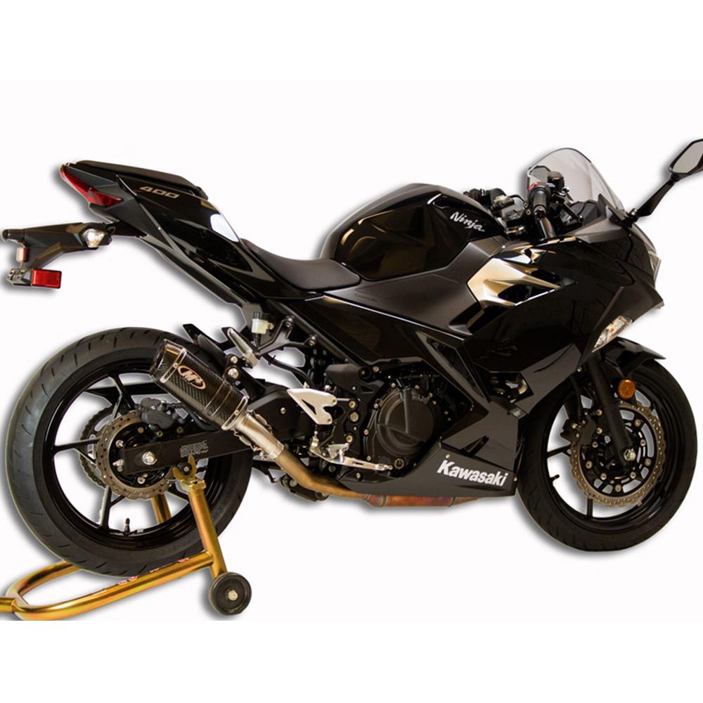 M4 Kawasaki Ninja 400 2018 2019 Carbon Slip On Exhaust