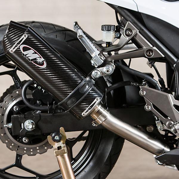 M4 Kawasaki Ninja 300 2013 2017 Standard Mount Slip On Exhaust
