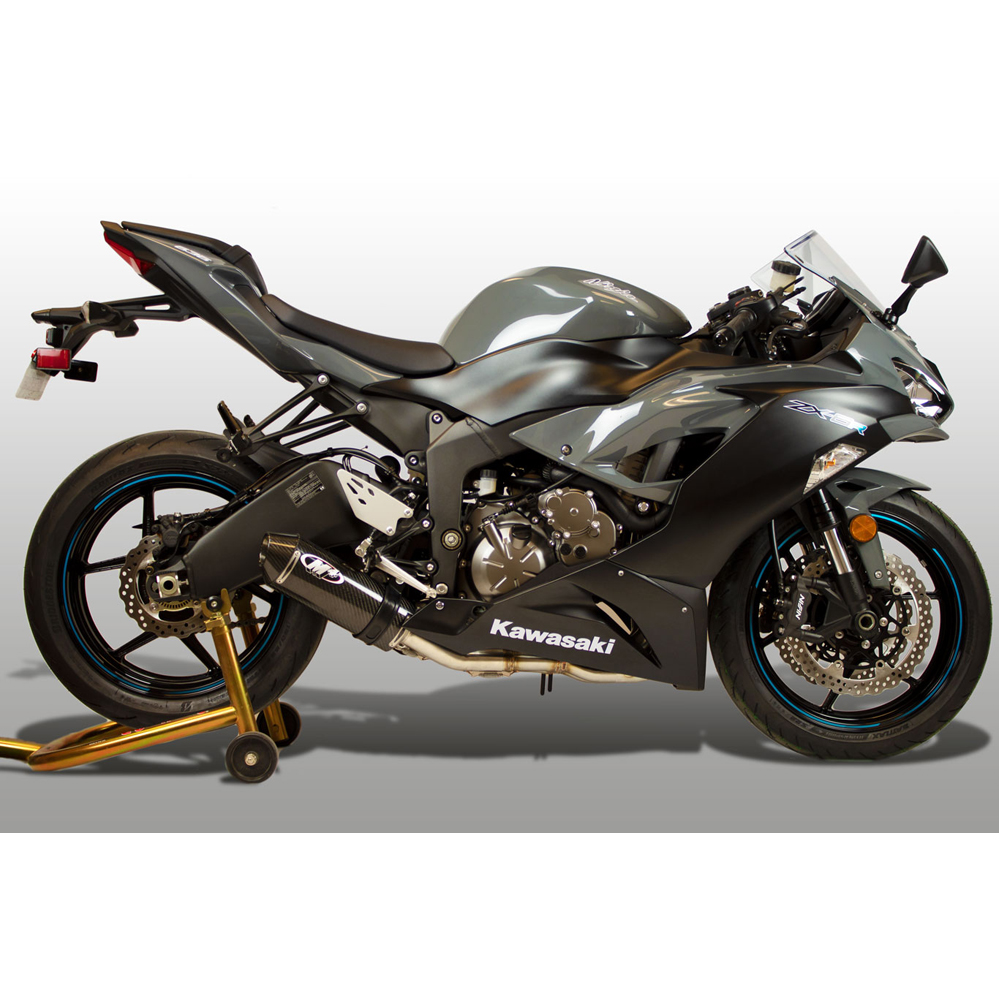 M4 Kawasaki Zx6r 636 2013 2019 Street Slayer Full Exhaust System