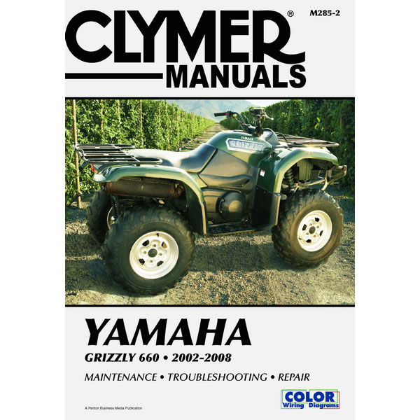 Clymer Yamaha Grizzly 660 02-08 Service Manual on