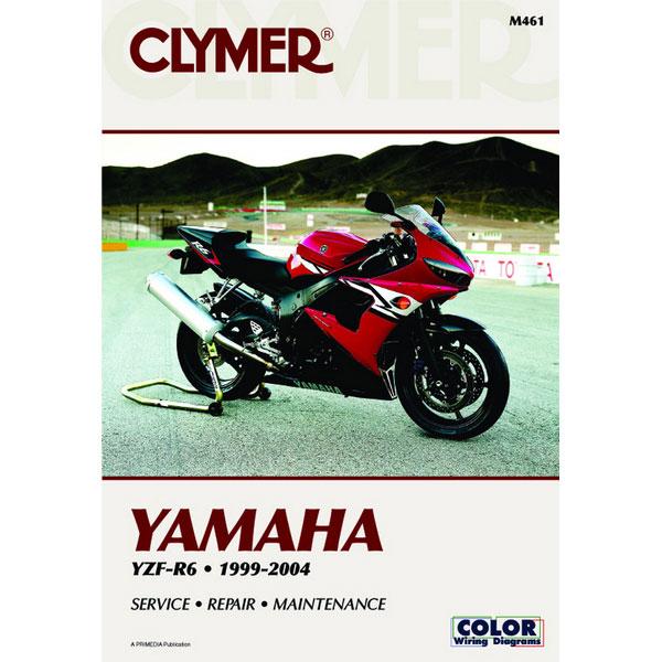 Clymer Yamaha Yzf R6 99 04 Service Manual Sportbike Track Gear