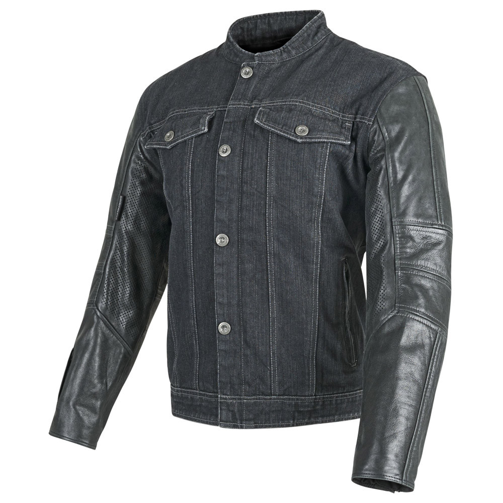 Speed and Strength Band of Brothers Leather Denim Jacket Black XXX ... 104fb8174