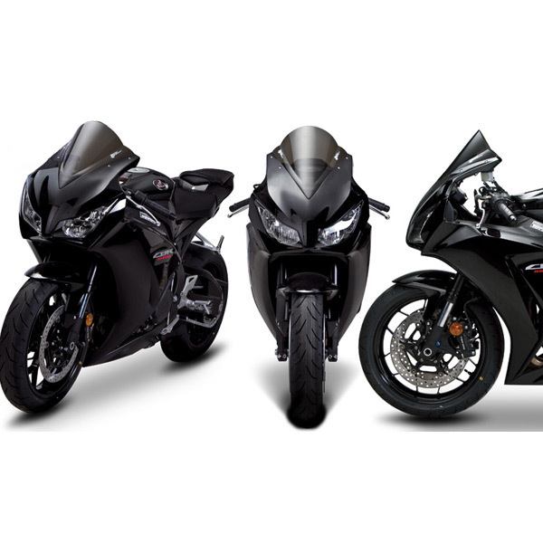 An Xin Black Windshield Windscreen Screen Double Bubble For Honda CBR1000RR 2012-2016