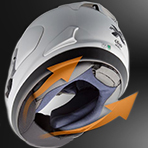 Arai Corsair-X Mamola Edge Helmet Chin Curtain