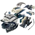 Shoei GT-Air Pendulum Helmet 3D Max-Dry Interior System