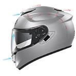 Shoei GT-Air Pendulum Helmet Ventilation