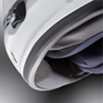 Arai Defiant-X Diablo Fixed Chin Curtain