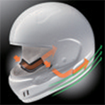 Arai Defiant-X Solid Mouth Vent and Eye-Port Ventilation