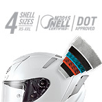 Shoei X-14 Solid Helmet Multi-Ply Matrix AIM+ Shell