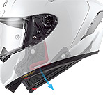 Shoei X-Fourteen Aerodyne Helmet Quick Release Cheek Pad System