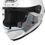 Shoei X-14 Solid Helmet Ventilated Cheek Pads
