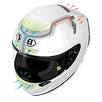 Shoei X-14 Solid Helmet Ventilation