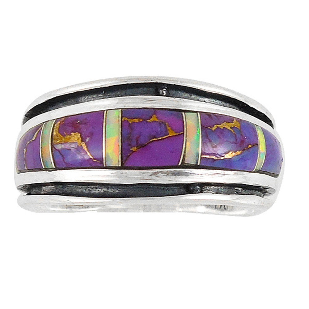 Purple Turquoise Ring Sterling Silver R2024-C23