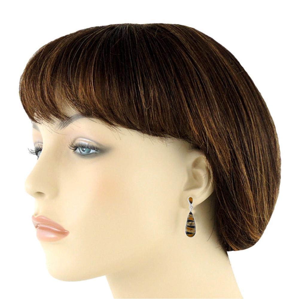 Sterling Silver Pendant & Earrings Set Multi Gemstones PE4014-C33