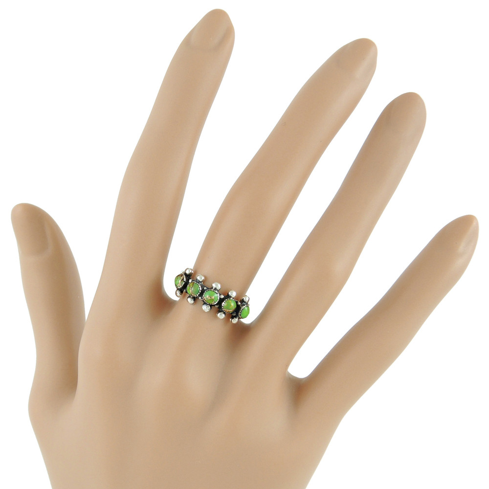 Green Turquoise Ring Sterling Silver R2241-C76