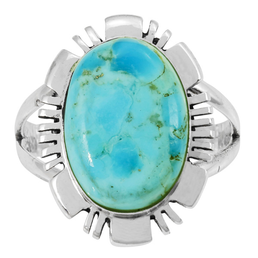 Turquoise Ring Sterling Silver R2028-SM-C75