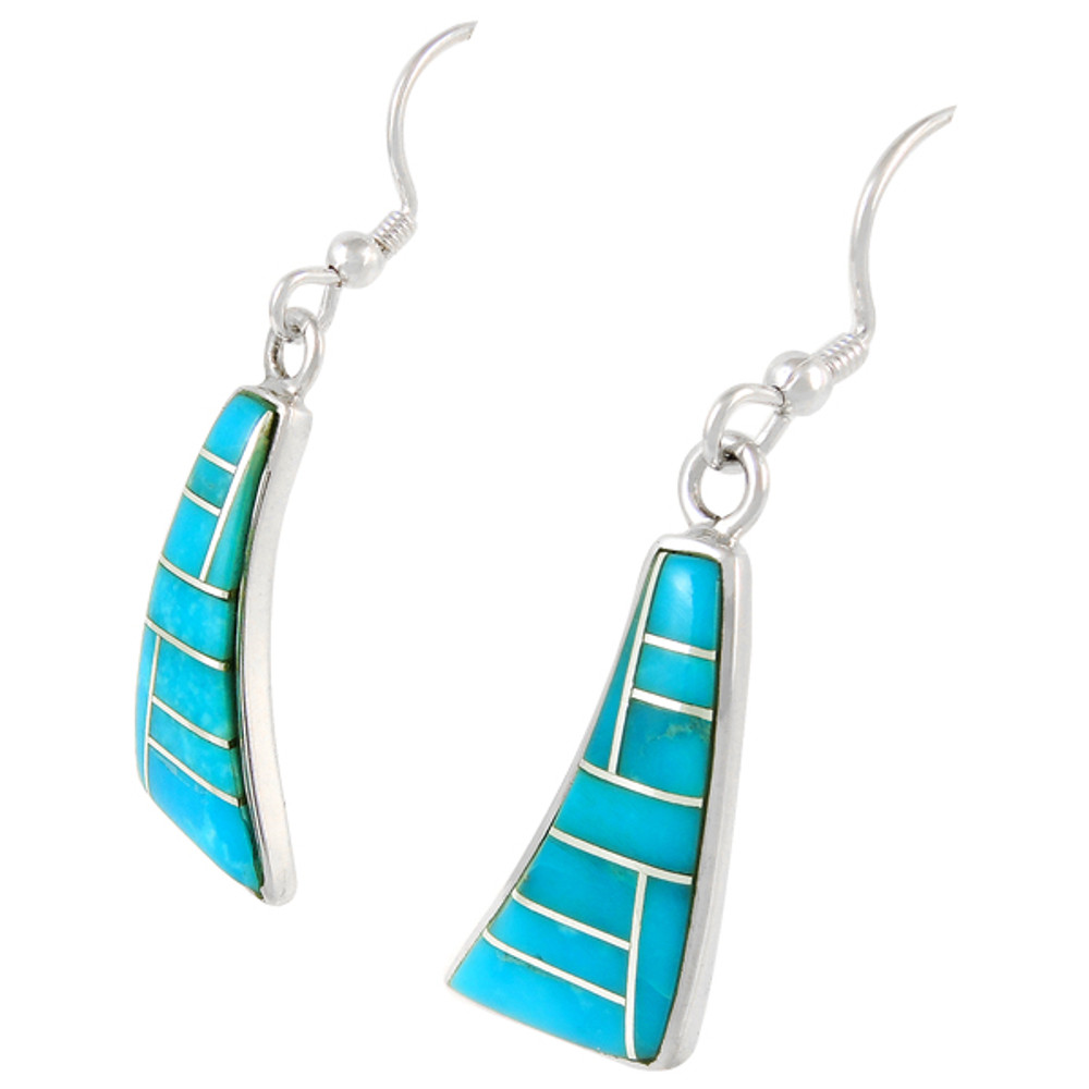 Sterling Silver Earrings Turquoise E1154-C05