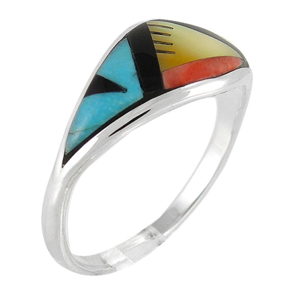 Multi Gemstone Ring Sterling Silver R2286-C02