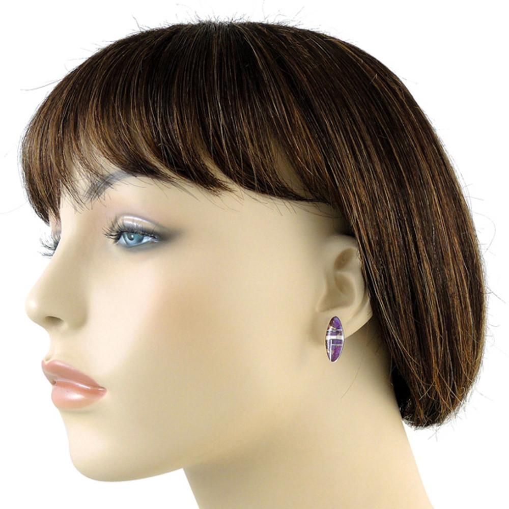 Sterling Silver Pendant & Earrings Set Purple Turquoise PE4008-C07