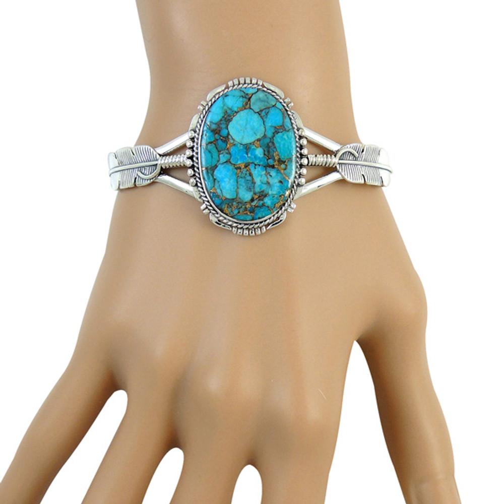 Matrix Turquoise Bracelet Sterling Silver B5550-C84