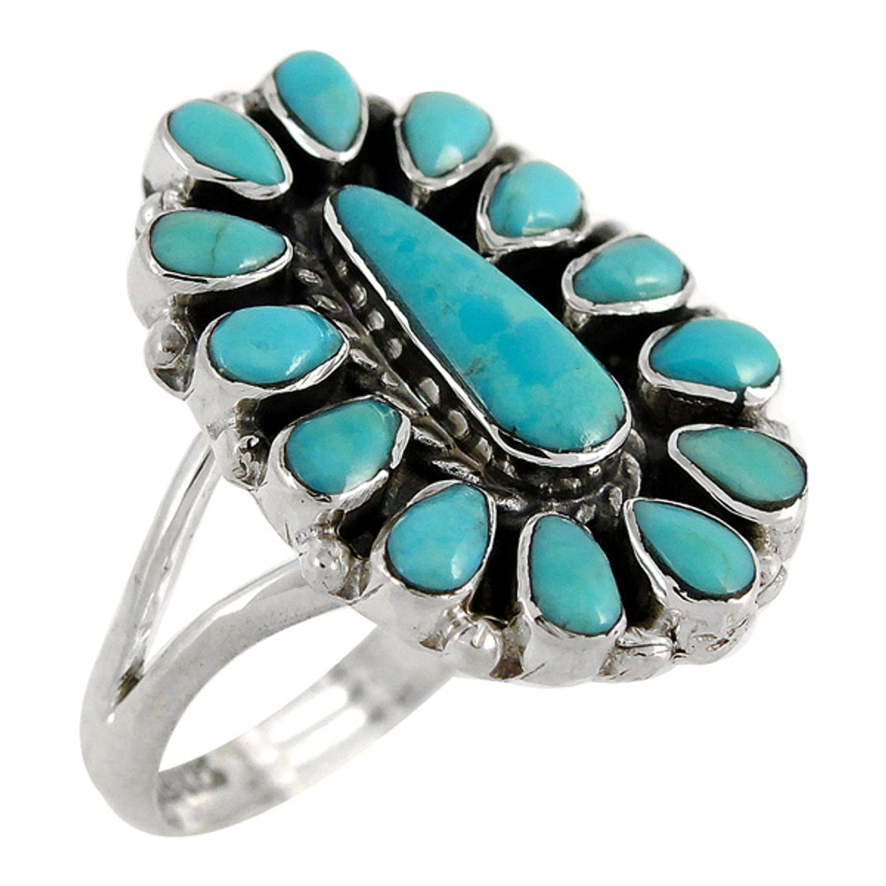 Turquoise Ring Sterling Silver R2342-C75