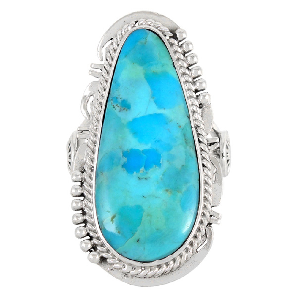 Turquoise Ring Sterling Silver R2318-C75