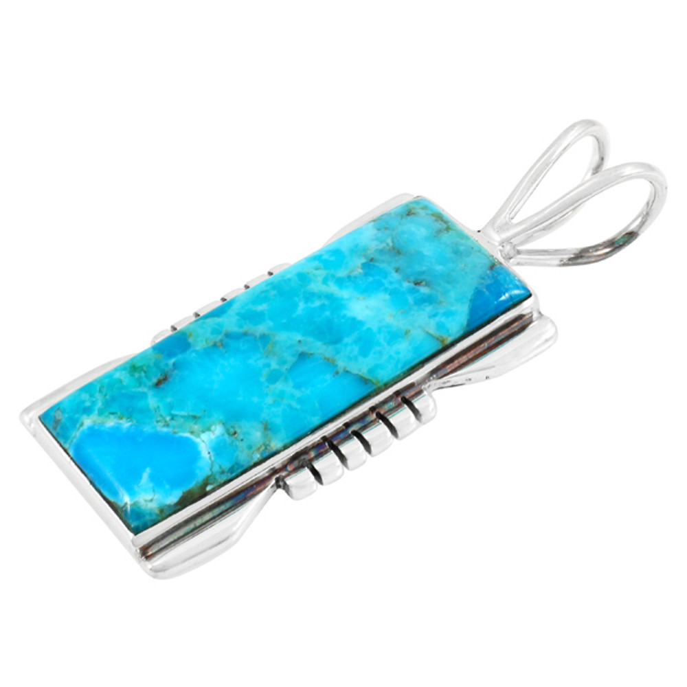 Turquoise Jewelry Pendant Sterling Silver P3044-LG-C75