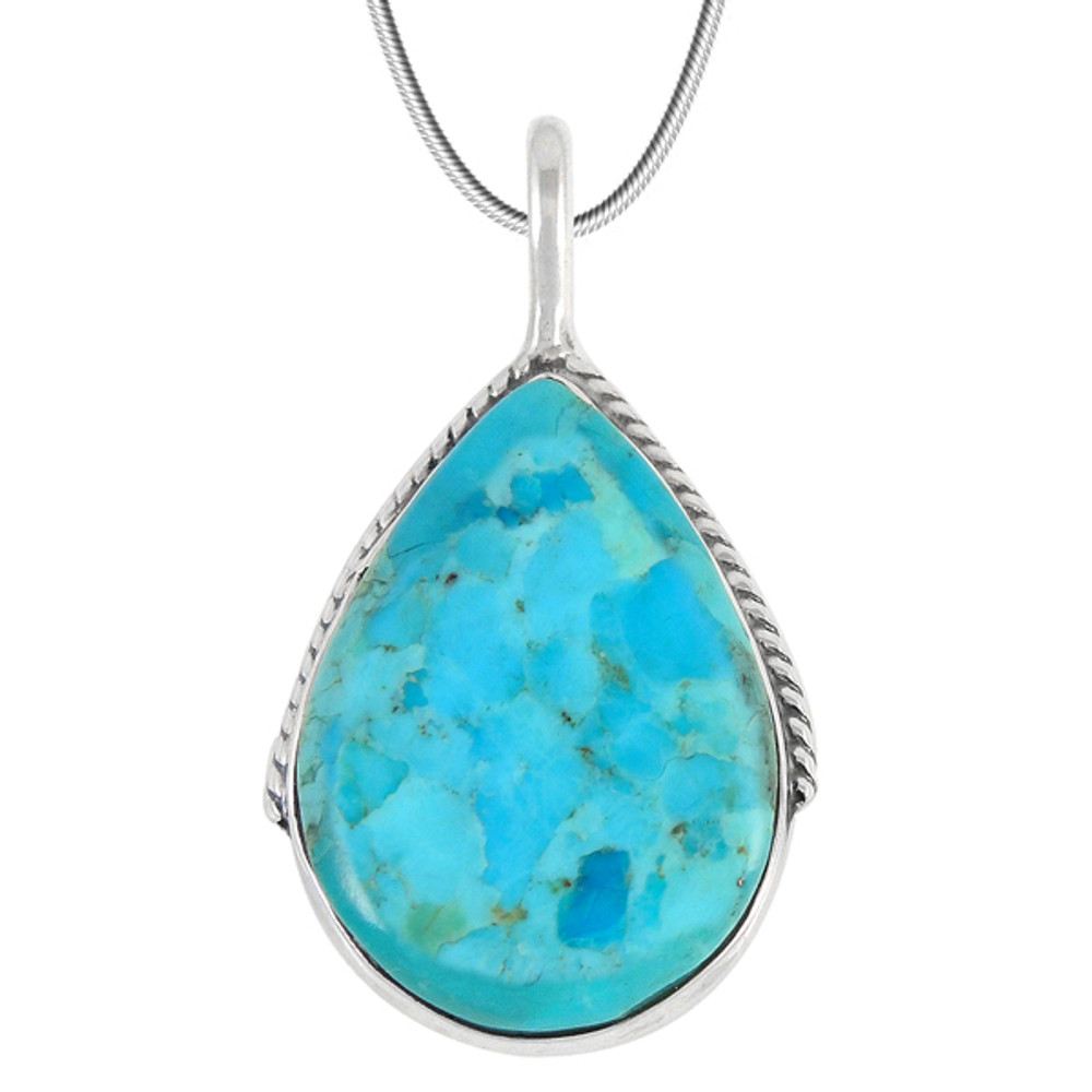 Turquoise Pendant Jewelry Sterling Silver P3075-C75