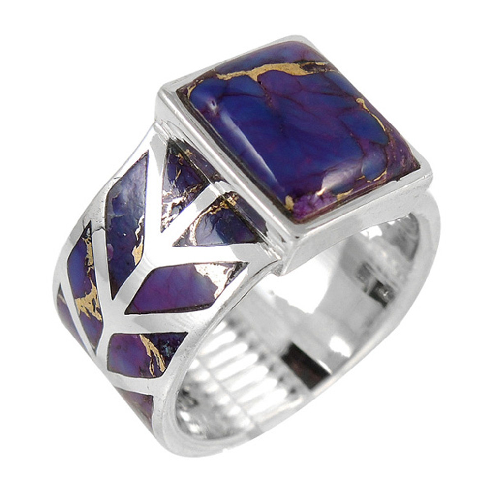 Purple Turquoise Ring Sterling Silver R2372-C77