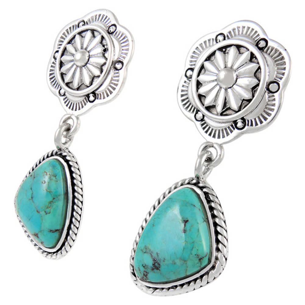 Sterling Silver Earrings Turquoise E1220-C75