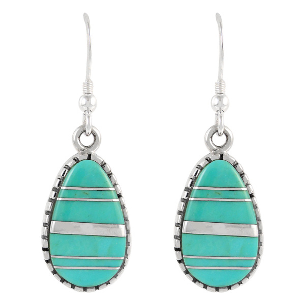 Sterling Silver Earrings Turquoise E1224-C05