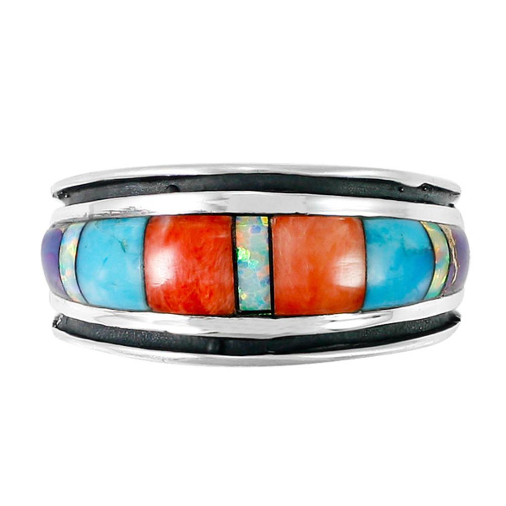 Sterling Silver Ring Multi Gemstone R2024-C01