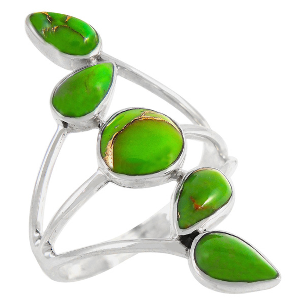 Green Turquoise Ring Sterling Silver R2406-C76