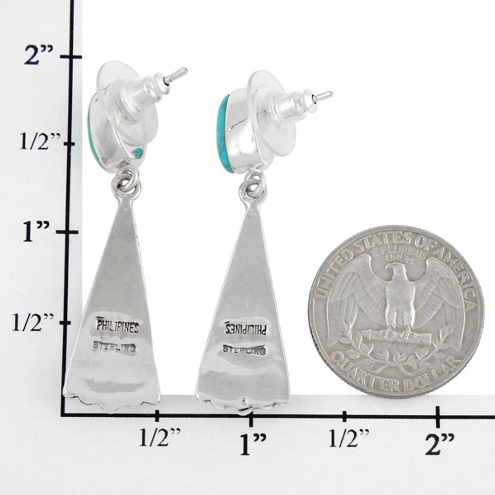 Sterling Silver Earrings Matrix Turquoise E1216-C84