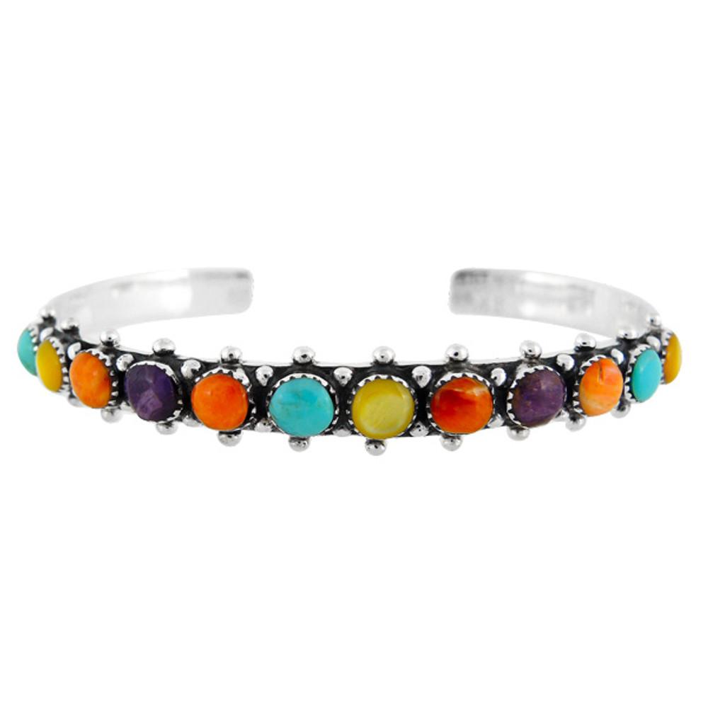 Multi Gemstone Bracelet Sterling Silver B5426-C71