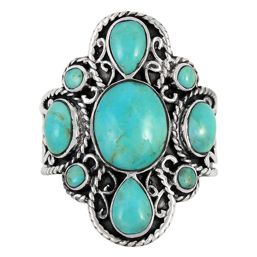 Turquoise Ring Sterling Silver R2416-C75