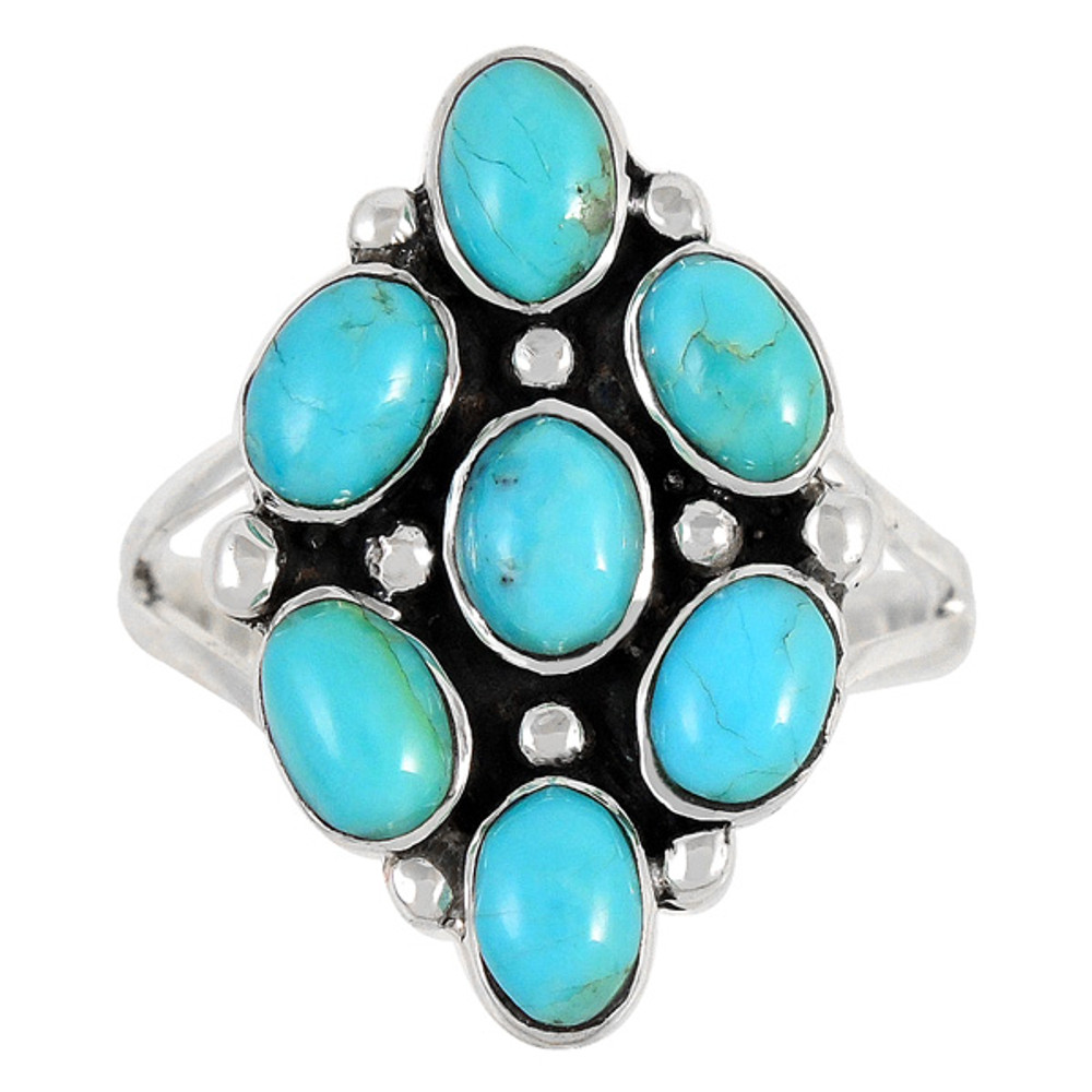 Turquoise Ring Sterling Silver R2419-C75