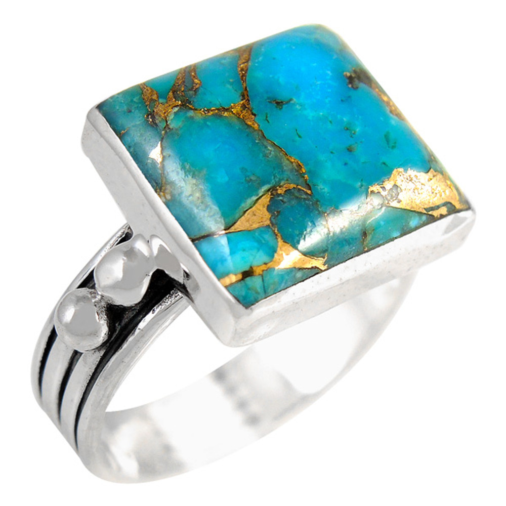 Matrix Turquoise Ring Sterling Silver R2425-C84