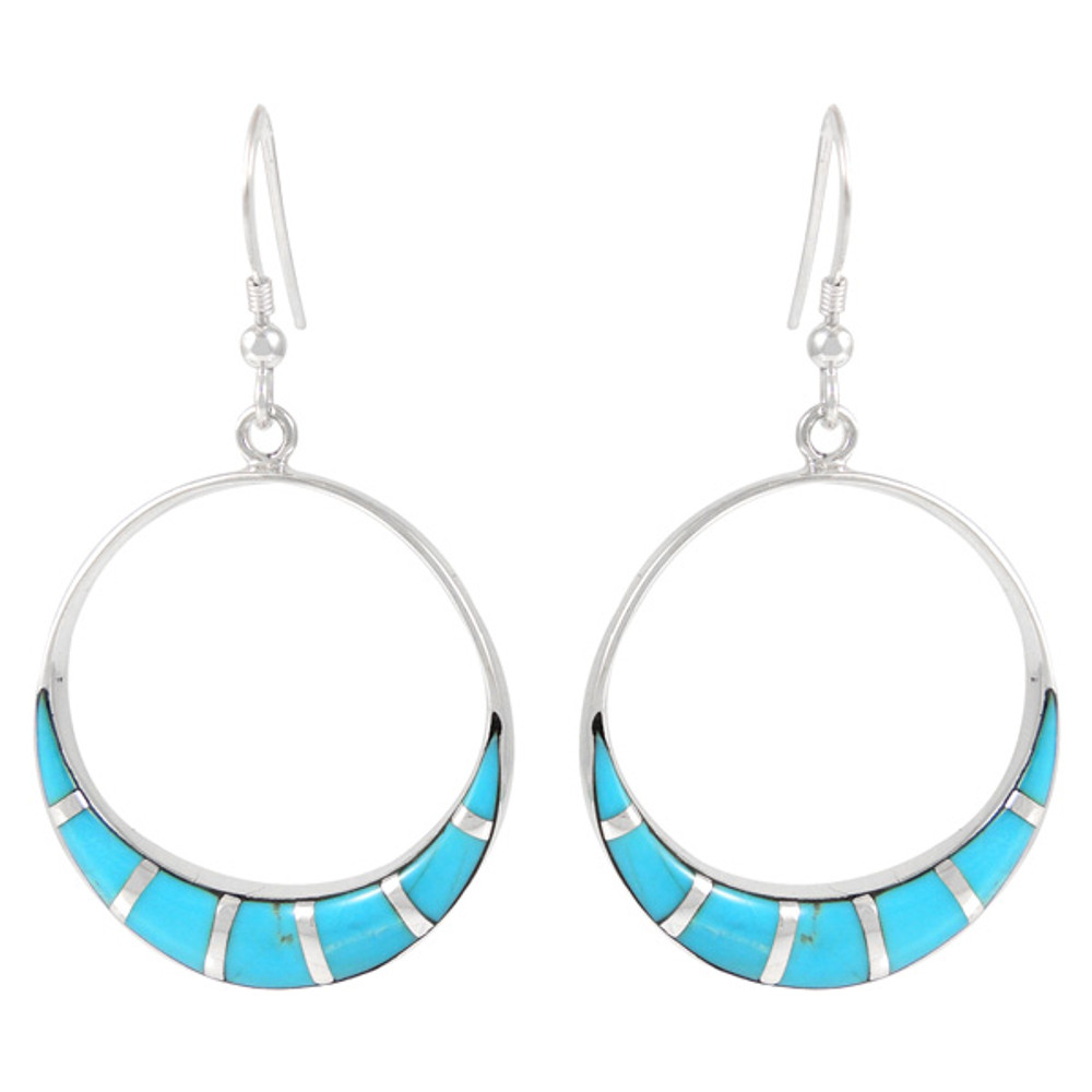 Sterling Silver Earrings Turquoise E1260-C05