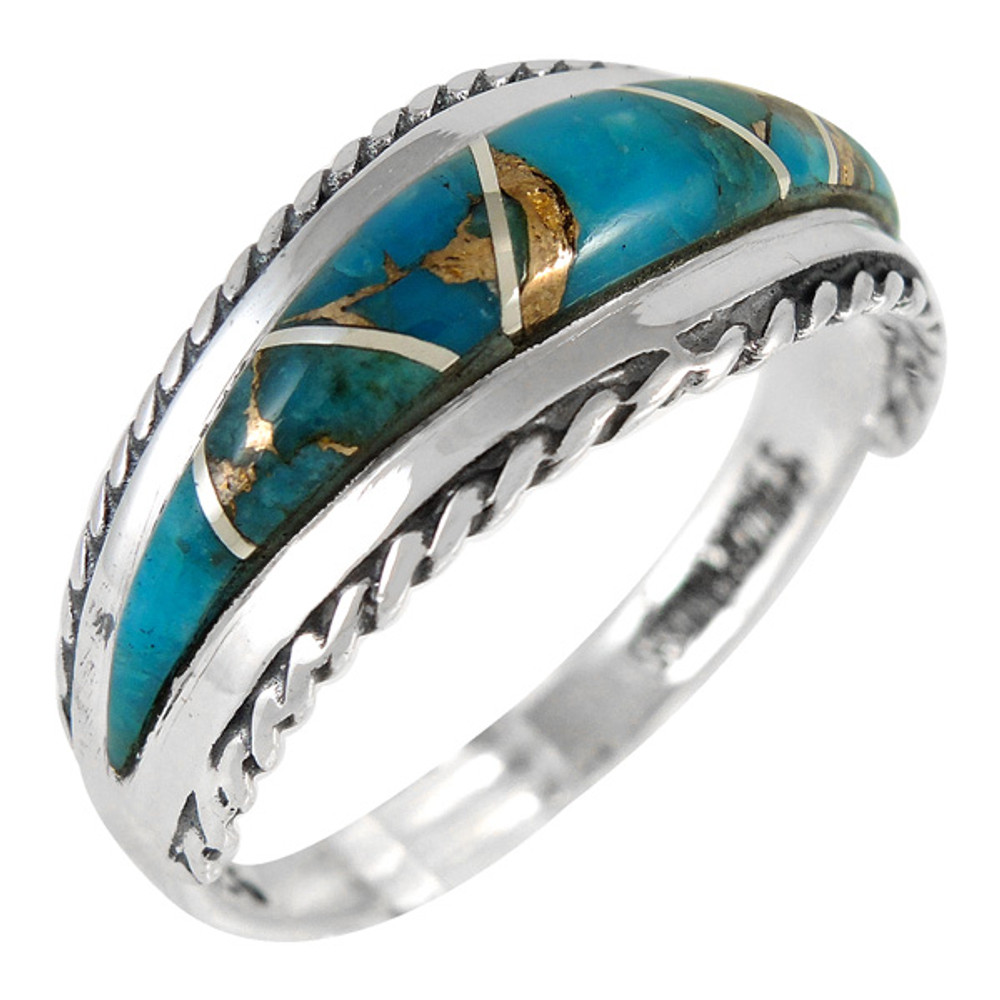 Matrix Turquoise Ring Sterling Silver R2285-C84