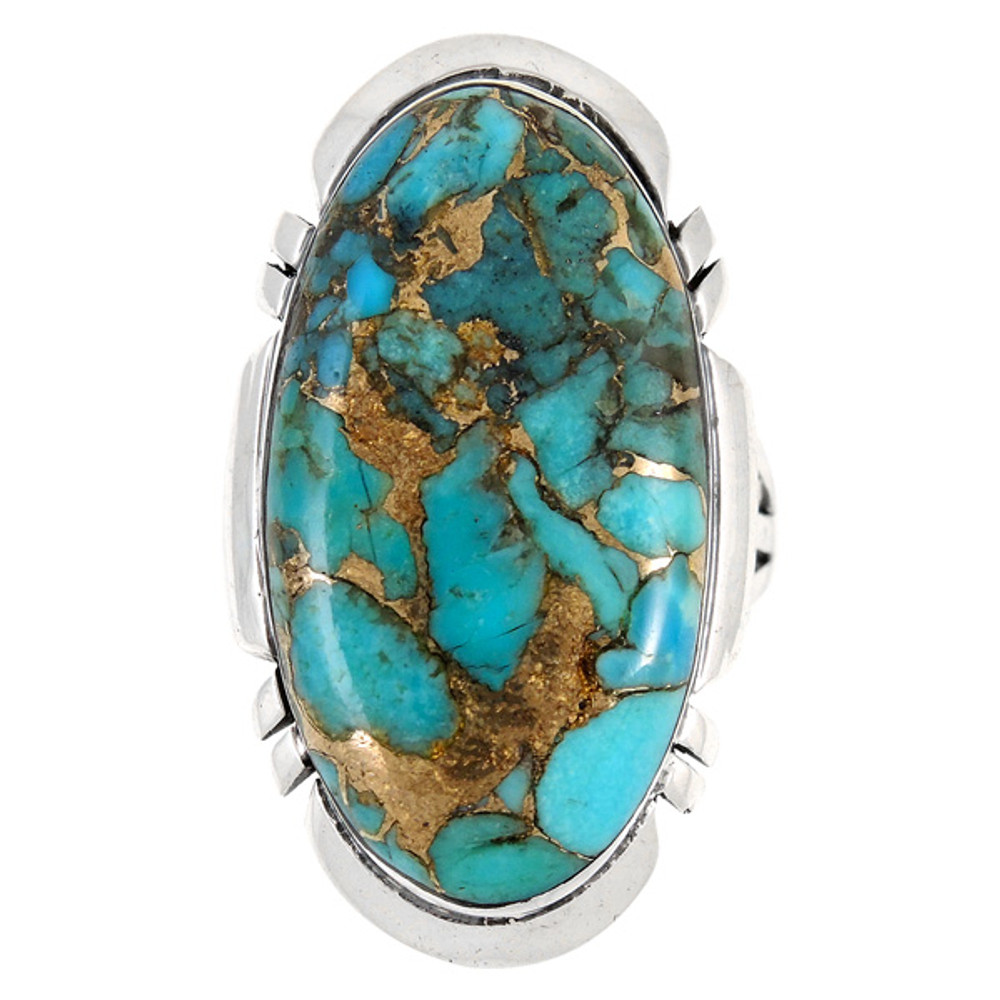 Matrix Turquoise Ring Sterling Silver R2429-C84