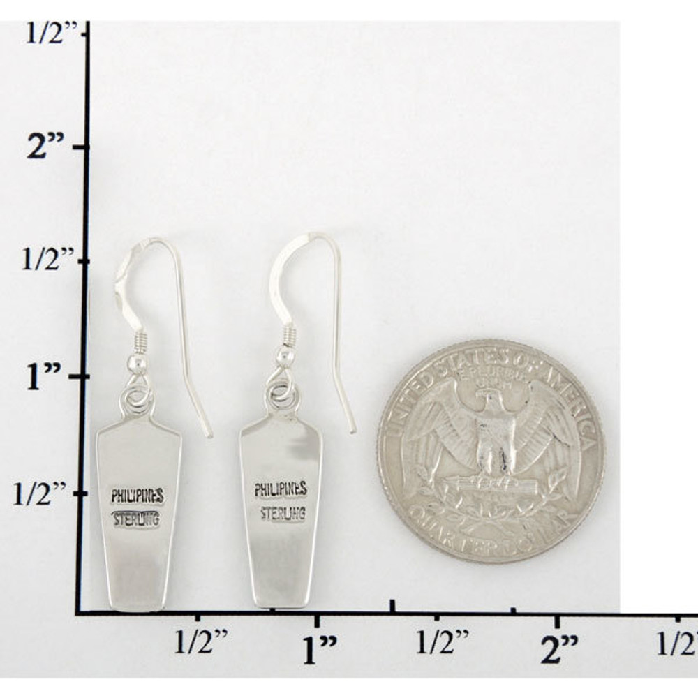 Sterling Silver Earrings Matrix Turquoise E1190-C84
