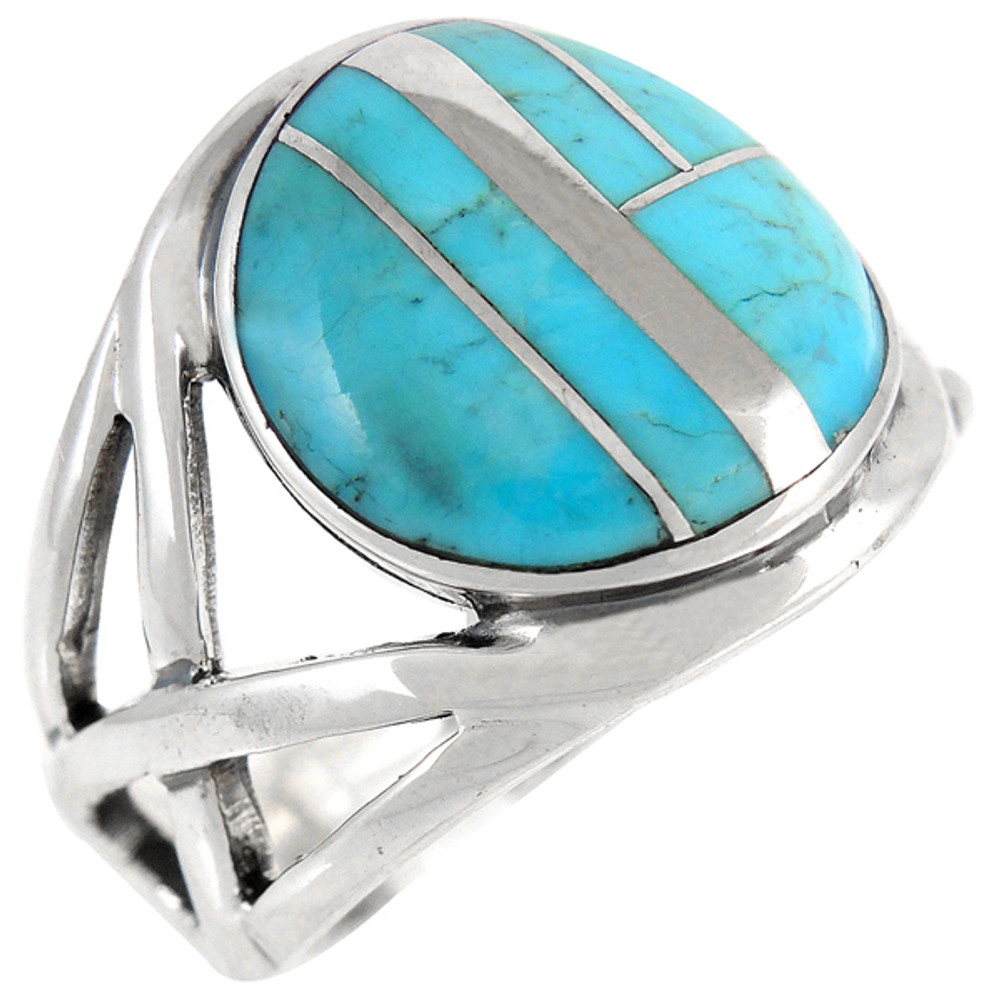Turquoise Ring Sterling Silver R2431-C05