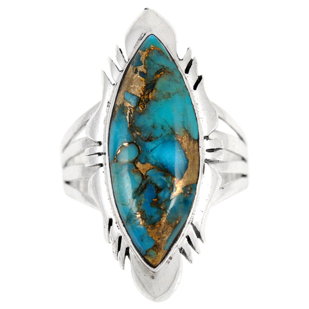 Matrix Turquoise Ring Sterling Silver R2023-C84