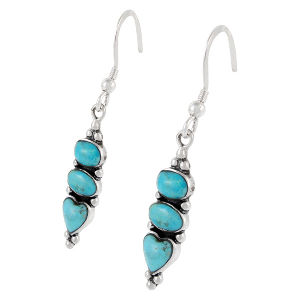 Sterling Silver Earrings Turquoise E1278-C75